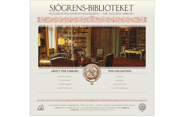 Sjögrens-bibliotekets indexsida