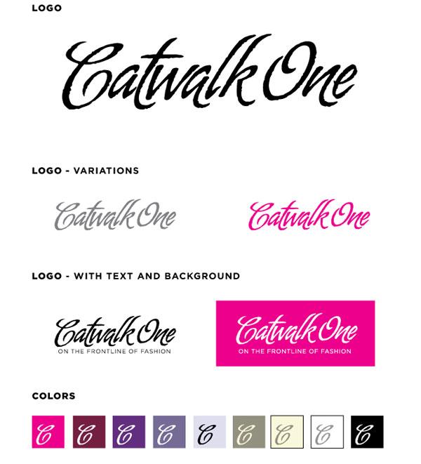 Catwalkone.com logo variations