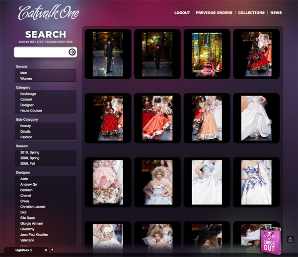 CatwalkOne Collection page