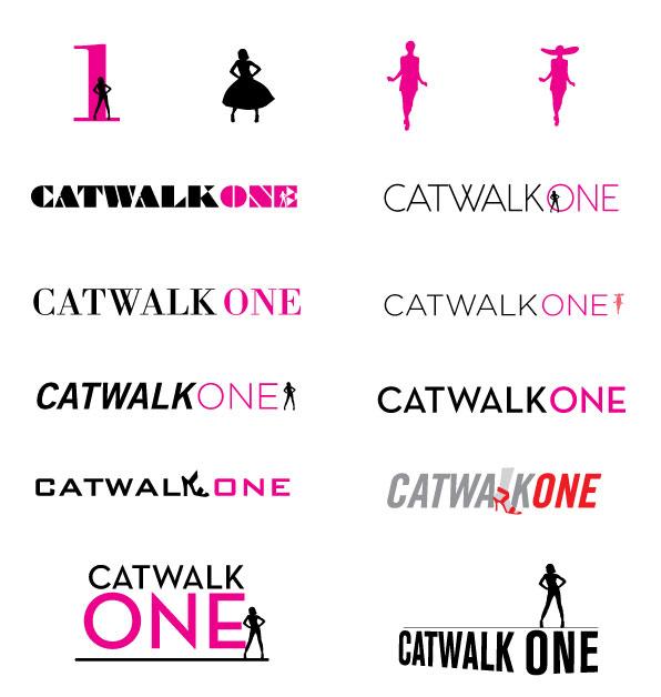 catwalkone logotype sketches