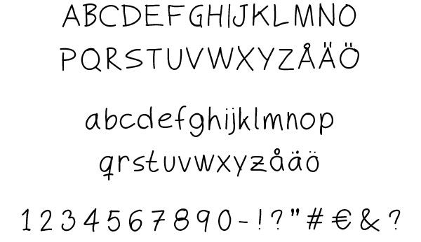 MyHand Regular - Free font for download