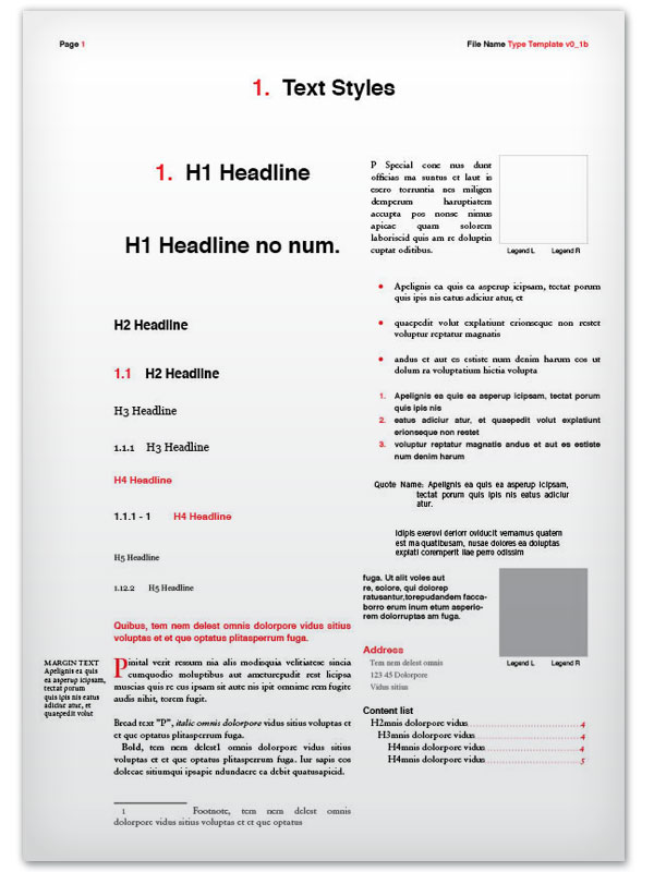 Type template example sheet